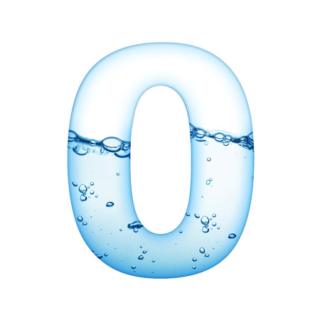 One letter of water wave alphabet  免版税图像