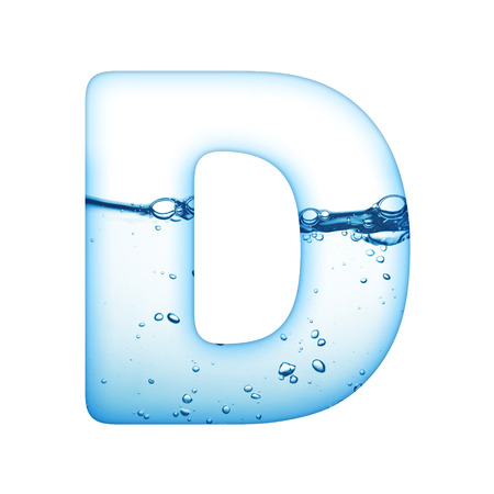 water flowing: One letter of water wave alphabet  Stock Photo