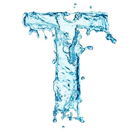 Lettre de projections d'eau Banque d'images - 25303636