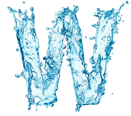 Lettre de projections d'eau Banque d'images - 25303637