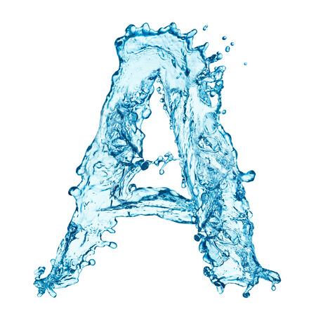 Lettre de projections d'eau Banque d'images - 25303828