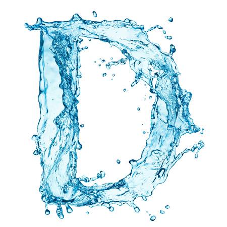 Lettre de projections d'eau Banque d'images - 25303831