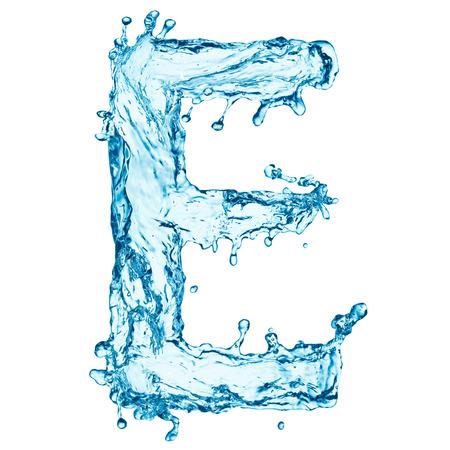 water alphabet: Water splashes letter Stock Photo