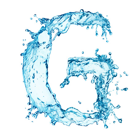 Water splashes letter Standard-Bild