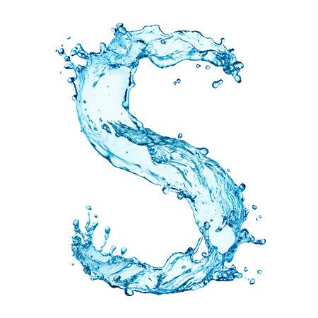 Water spatten letter Stockfoto - 25303851