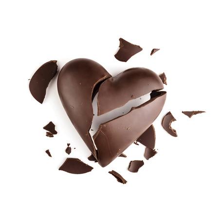 lonely heart: Chocolate broken heart
