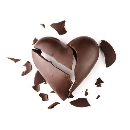 heart broken: Chocolate broken heart
