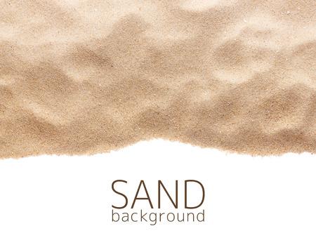 Het zand verstrooiing op een witte achtergrond Stockfoto - 29208407