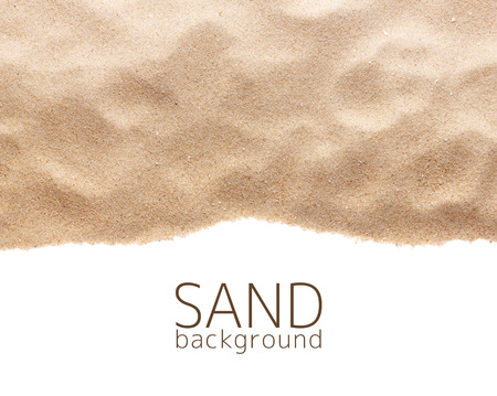 The sand scattering isolated on white background  Stock fotó