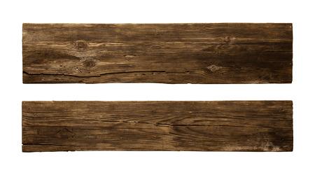 Old Wood plank, isolated on white background Standard-Bild