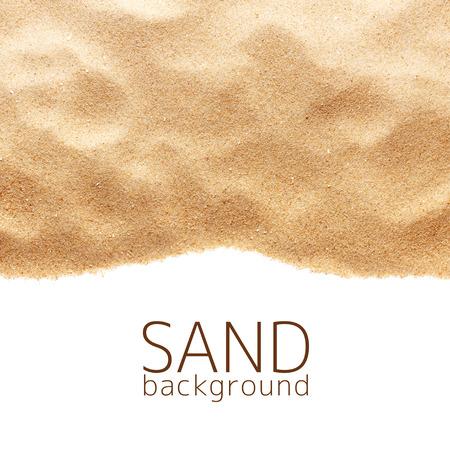 Het zand verstrooiing op een witte achtergrond