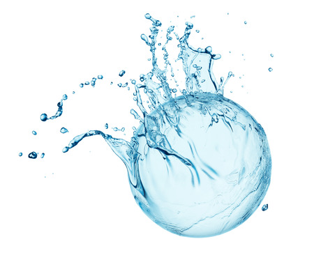blue water splash isolated on white background 免版税图像