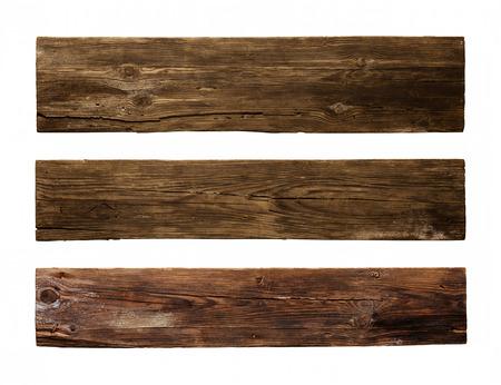 Antiguo tablón de madera, aislado en fondo blanco Foto de archivo - 34160298