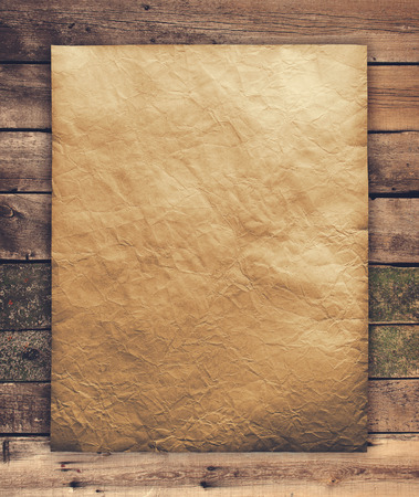 paper scroll: old paper on wood texture with natural patterns