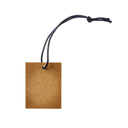 shopping tag: Empty shopping tag template. Isolated on white Stock Photo