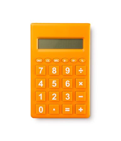 白い背景の上の電卓