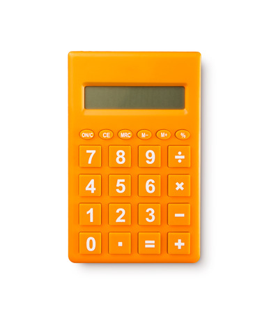 Calculator on a White Background Stok Fotoğraf - 41111445
