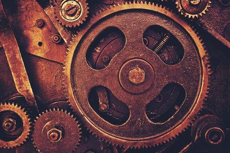 oxidado: engranajes del viejo mecanismo