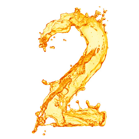 Orange liquid splash alphabet Imagens
