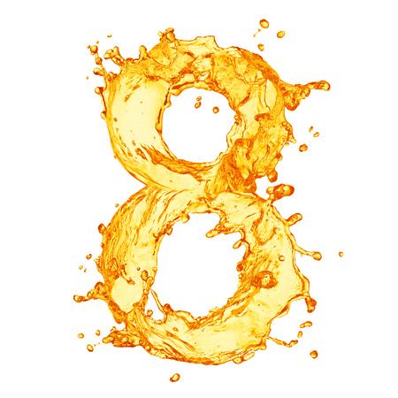 liquid splash: Orange liquid splash alphabet Stock Photo