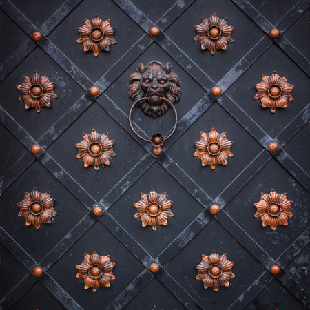 details: Detail of door Stock Photo