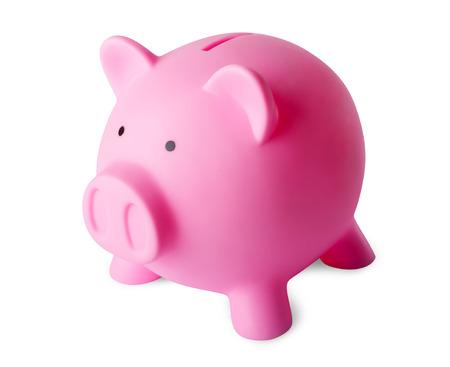 white piggy bank: Piggy Bank Side