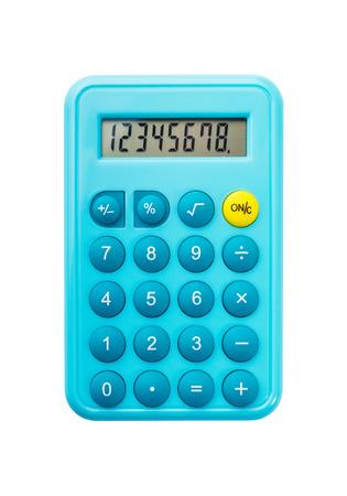 calculator: Calculator on a White Background