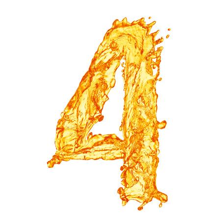 vaso de jugo: Naranja alfabeto salpicaduras de líquidos