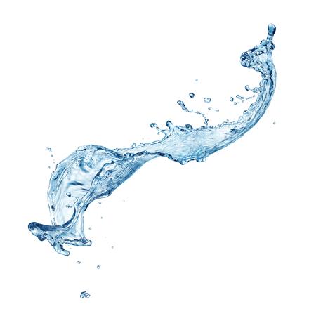 Blue water splash isoliert auf weißem Hintergrund Standard-Bild - 46338954