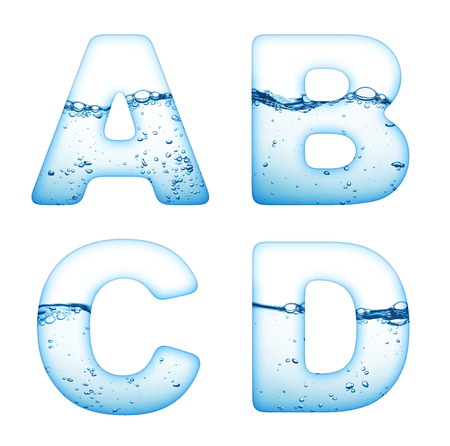 water wave: One letter of water wave alphabet