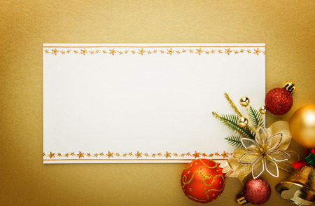 Holiday paper invitation card