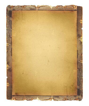 Old vintage paper and grunge border. Brown paper texture. Vintage paper background