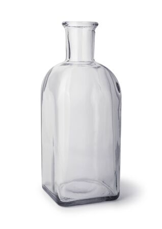 Glass bottle isolated on white background. Path included.