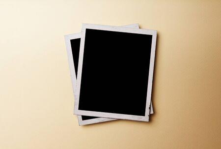 Old Photo Paper On Vintage Paper