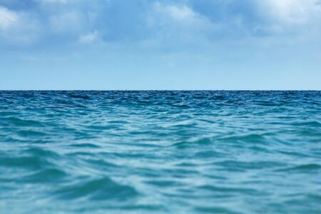 Blue ocean background. Water wave texture. Sea surface.