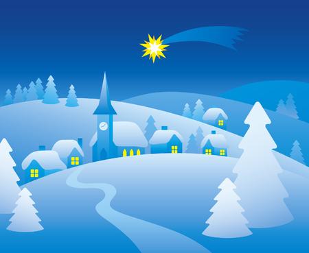 silent: Winter night. Christmas silent night.