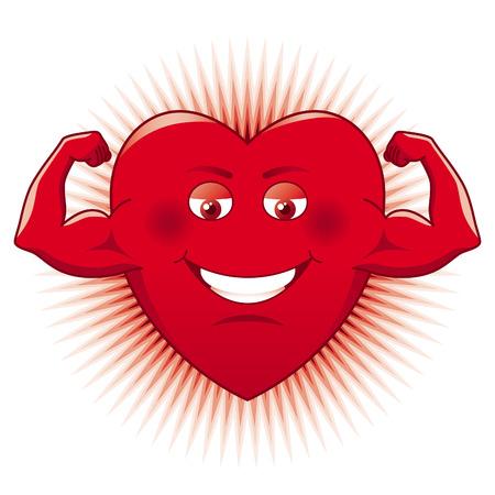 Power of Love. Cartooned heart.