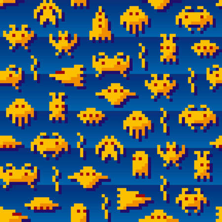 space invaders: Retro Invaders Illustration