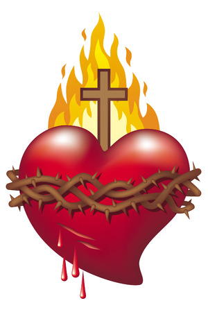 Heart of Jesus. Symbol of Sacred Heart of Jesus.
