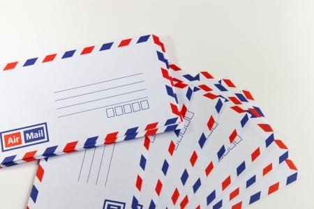 Envelope isolate in white background photo