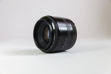 Black lens on a white background Stock Photo - 22026667