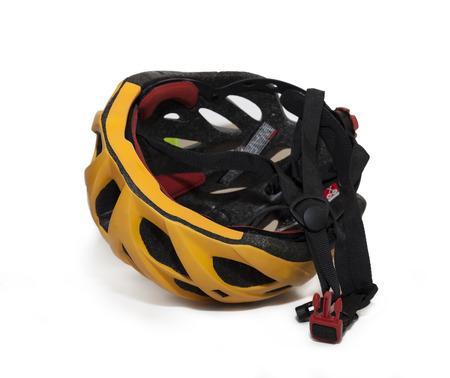 Bicycle helmet isolate on white  photo