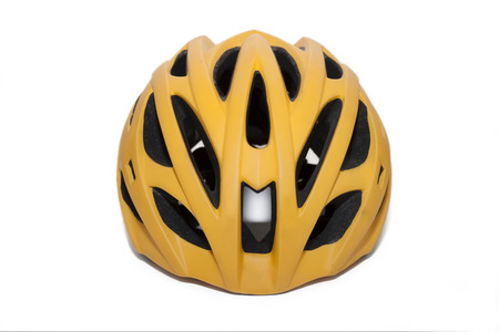 Bicycle helmet in font view isolate with white  photo