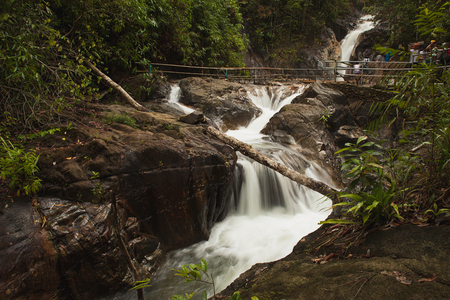 namtok: Ton Pariwat Waterfall or Namtok Song Phraek. located on phang nga, southern of Thailand.