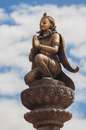 garuda: Garuda statue at Patan square, Kathmandu, Nepal.