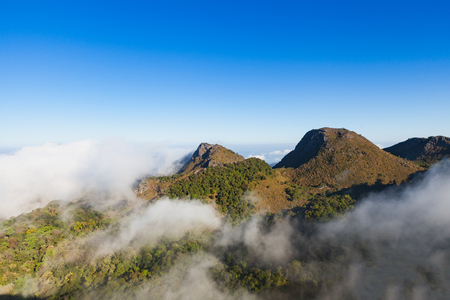 Landscape view of Chiang dao mountain area, Chiang mai, Thailand. Stock Photo
