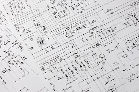 Dibujo de ingeniería electrónica o esquema de circuito
