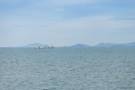 Fischerboot am Golf von Thailand, Surat Thani, Thailand. Standard-Bild - 76299740