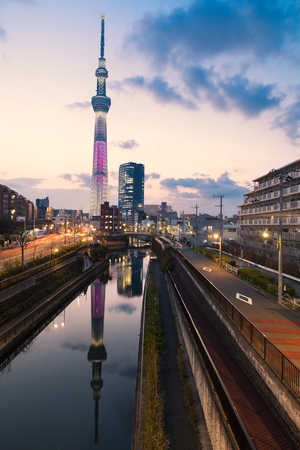 Tokyo Skytree Tower  in the Twitlight time.