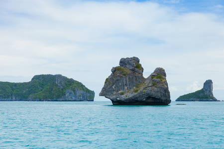View of islands from Ang Thong National Marine Park, Thailand Stock Photo